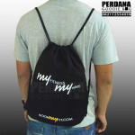 Drawstring bag kanvas my fit by perdana