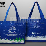 goodie bag kanvas motif natal