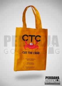 Tas Bahan Kanvas Sablon 3 Warna 2 Sisi Klien CTC Kebayoran Baru