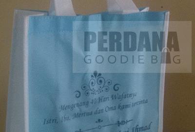Sablon Tas Spunbond Untuk Tahlillan Klien Gorontalo