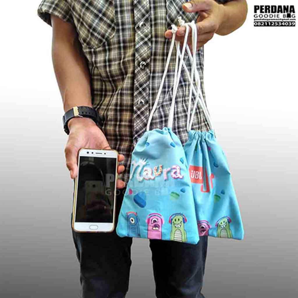 souvenir ultah model pouch serut printing taslan by perdana Q3570