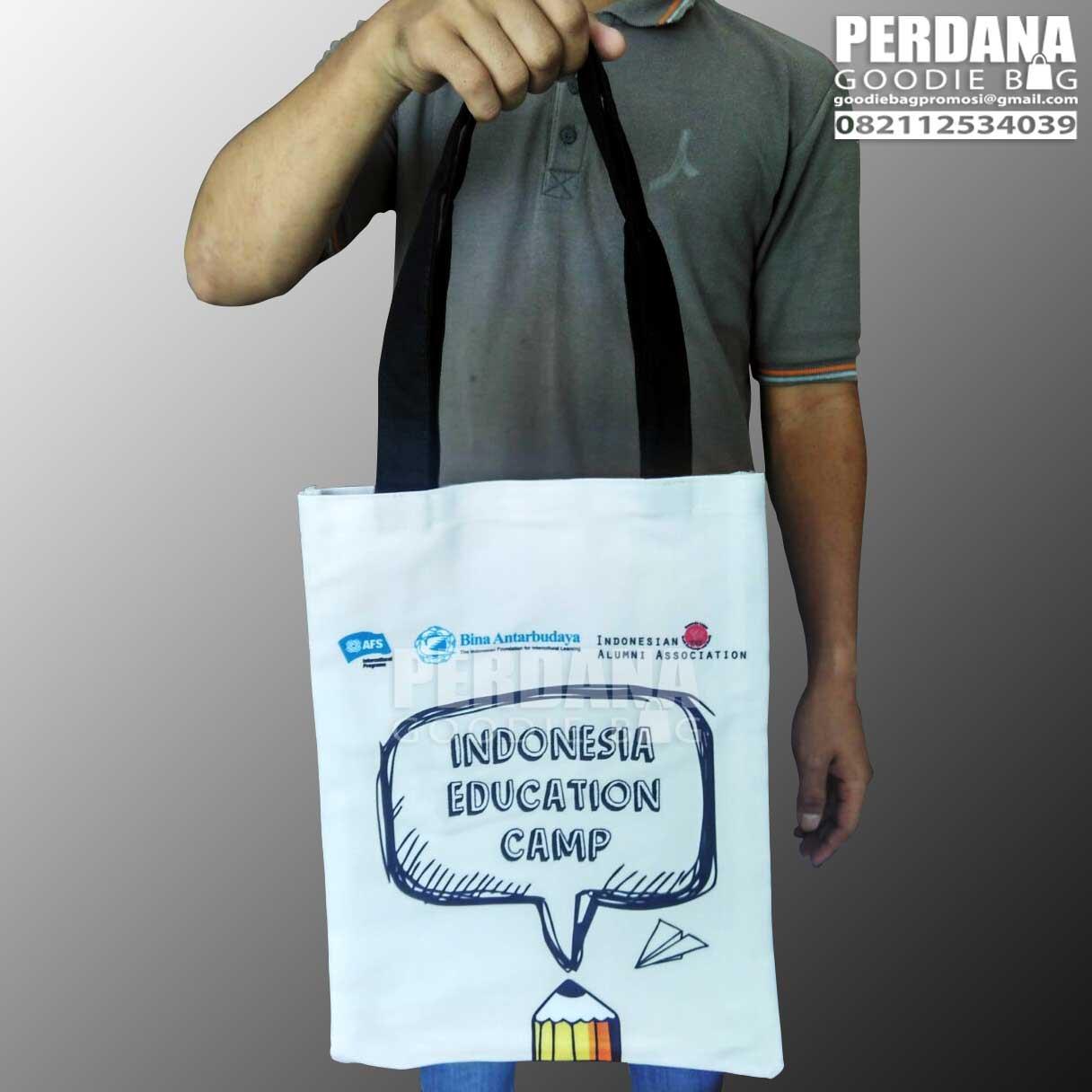Q2857 tas kanvas printing IEC Perdana Goodie Bag
