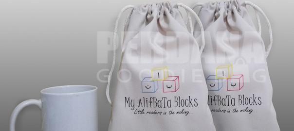 souvenir tas blacu pouch custom perdana