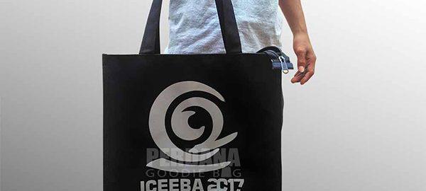 tas bahan dinir d300 sablon Iceeba Makassar Q3469
