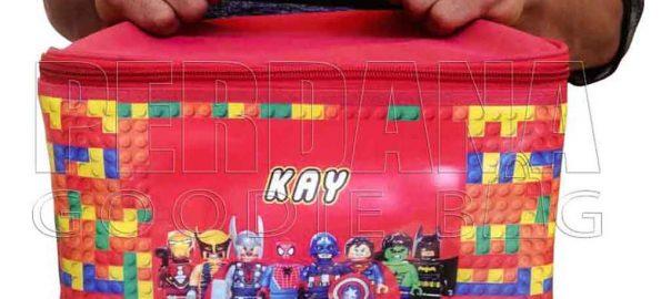 tas tempat kotak makan untuk anak desain printing kalep Q3737
