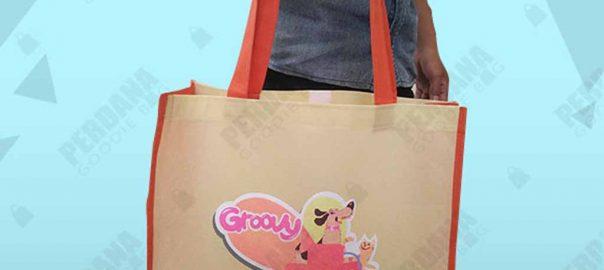 Tas Souvenir Go Green Spunbond Groovy Clinic by Perdana id4077