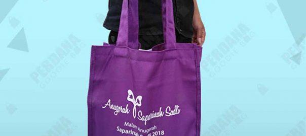 tas bahan drill warna ungu jinjing di dharmawangsa id4204