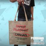 goodie bag kanvas sablon klien Bekasi
