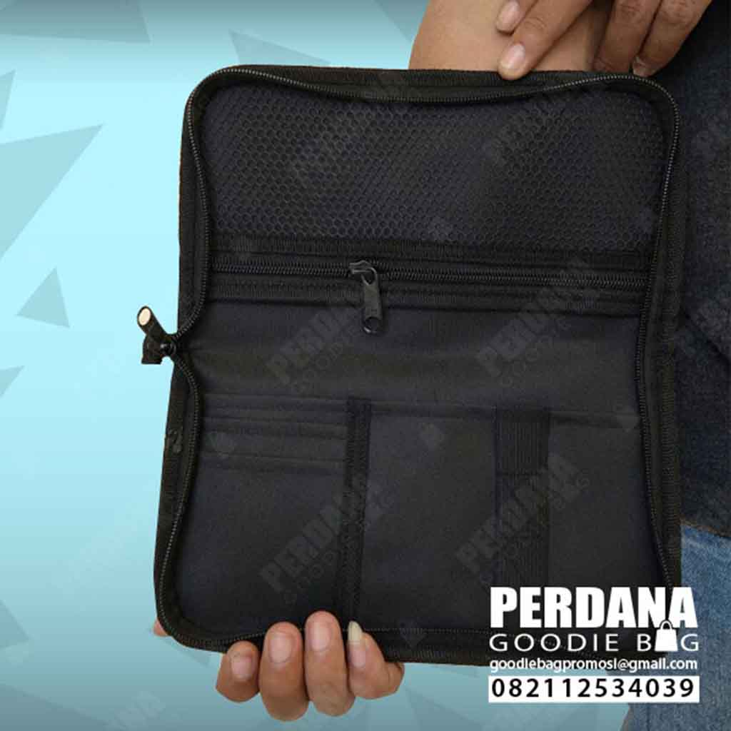 pouch dompet dengan lapisan jaring perdana goodie bag