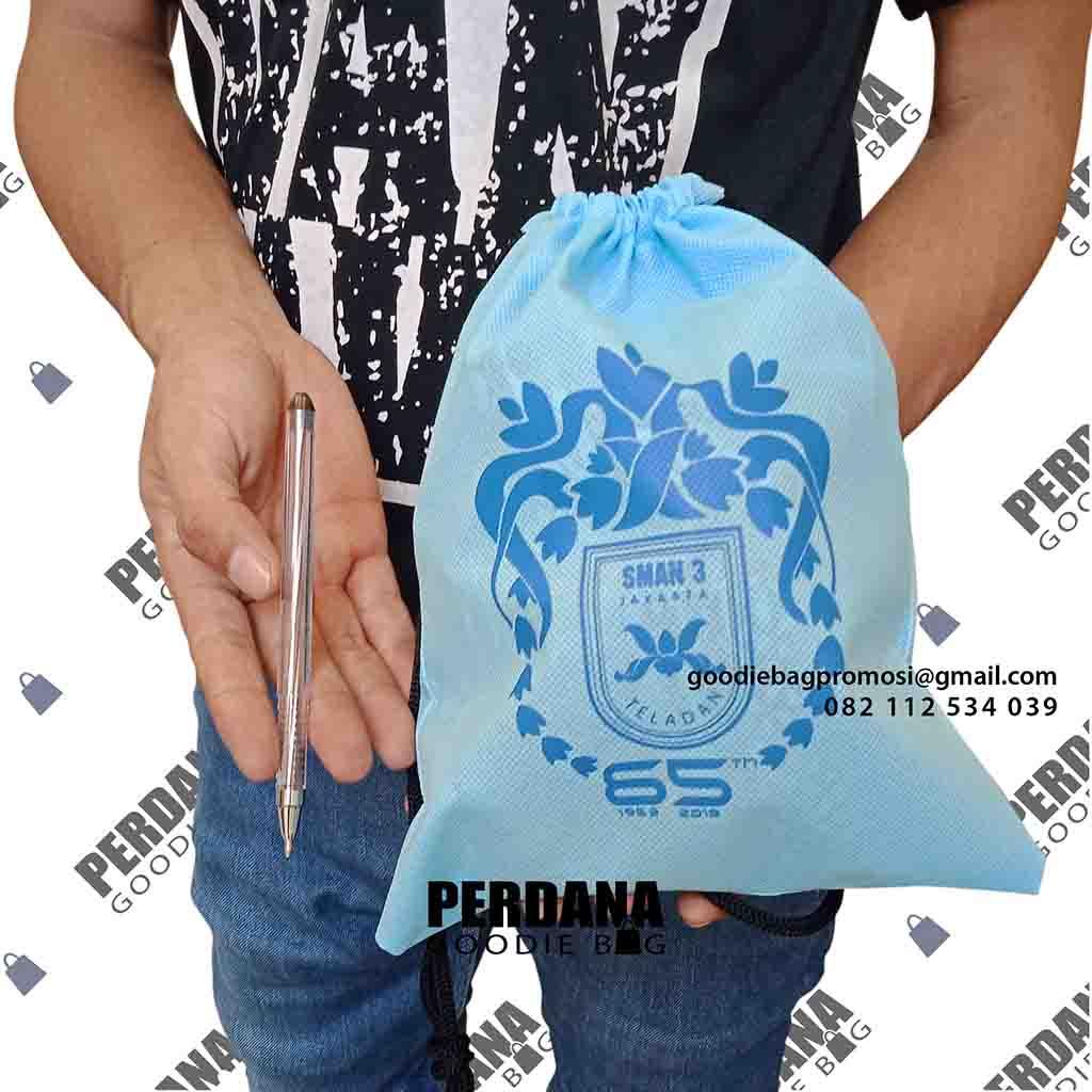 pouch serut untuk sekolah custom