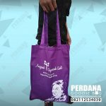 totebag drill ungu souvenir saparinah by Perdana Goodie Bag