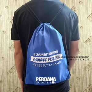 tas serut model ransel anti air Jambi by Perdana Goodie Bag id5007