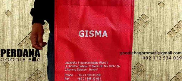 contoh tas sablon spunbond gisma by Perdana Goodie Bag id4783