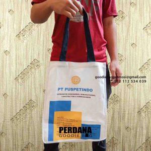 jual tas bahan kanvas sablon by Perdana Goodie Bag id5146