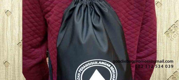 tas serut ransel waterproof anti air warna hitam by Perdana id4983