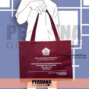 jual souvenir tas custom warna merah maroon di Bali id5707