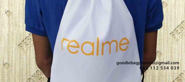 contoh tas serut murah model ransel by Perdana Goodie Bag id6328
