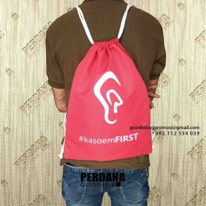 jual drawstring bag murah bahan anti air Perdana Goodie Bag id6509