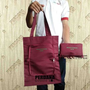 jual tas lipat murah custom bahan anti air di Perdana Goodie Bag id6541